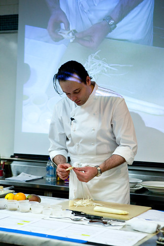 Paul Liebrandt peeling the Austrian white asparagus