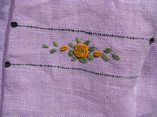 Vintage Embroidery Close Up