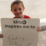 KLRU inspires me to... ride bikes.