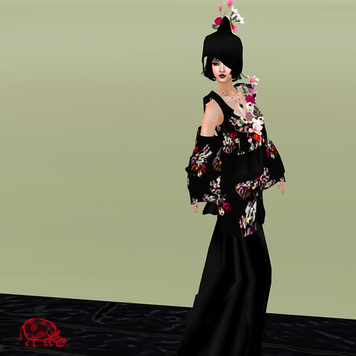AD Creations kimono skull black wedding