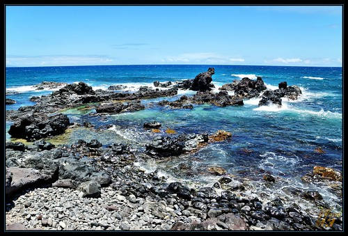 ocean blue water hawaii waves bluewater rocky maui pacificocean coastline hookipapark wanam3
