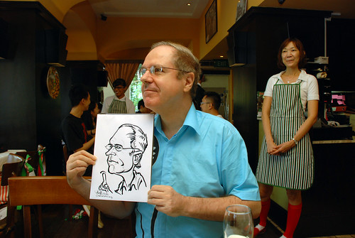 Caricature live sketching at La Noce Italian Restaurant -9