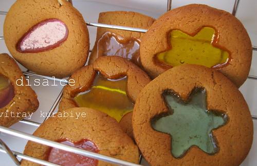 vitray-cam şekerli kurabiye
