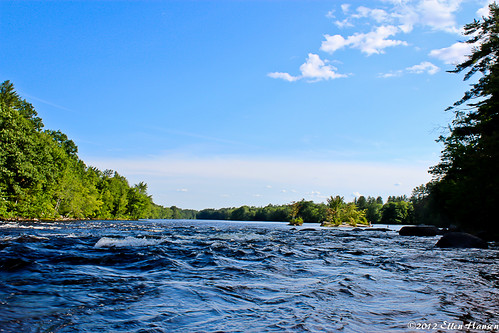 In the Maelstrom, Limington Rapids, Saco River, Limington, Maine by Genny164