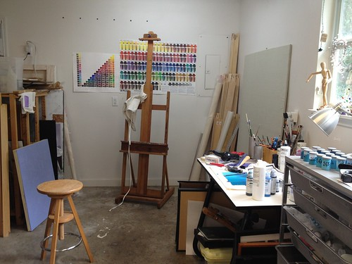 Painting table and easel