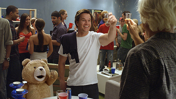 Seth MacFarlane and Mark Wahlberg don't quite go far enough off the rails in TED.