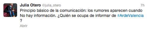 Tweet acertado sobre Cofrentes
