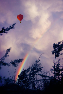 Winter Rainbow (and a pretend hot-air balloon)