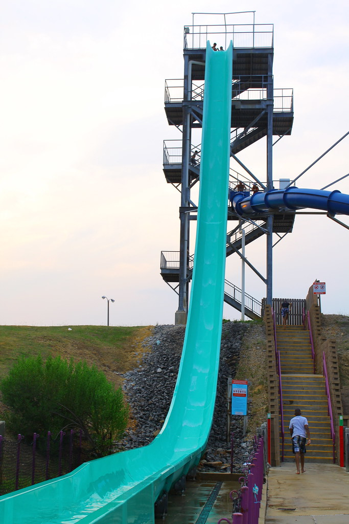 tallest water slide  Water Wizz Zip Line