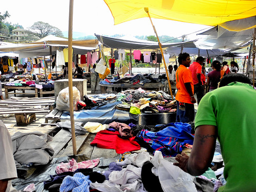 Clothes Market in Kandy  (by Queenie)
