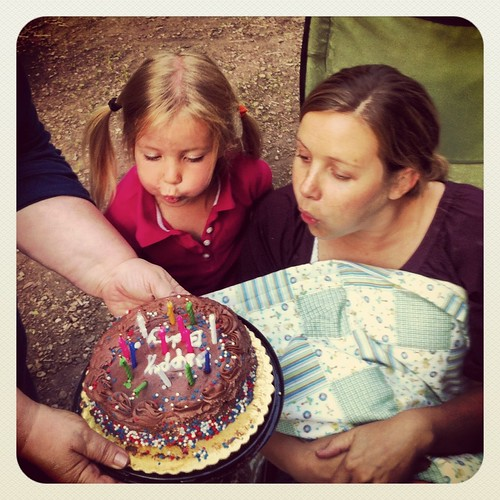 Happy birthday to me and my country. Thank you Leah for helping me blow out my candles.