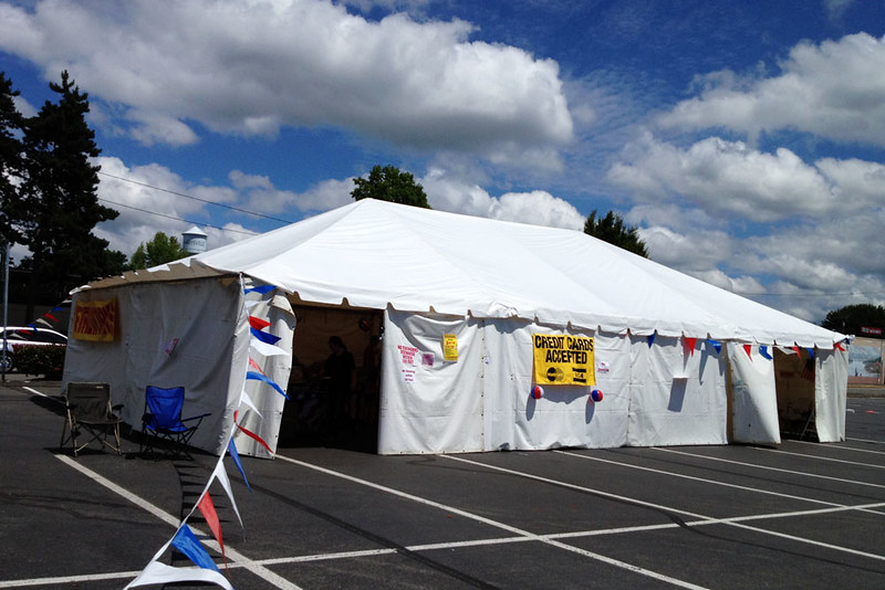 Fireworks tent on Independence Day 2012