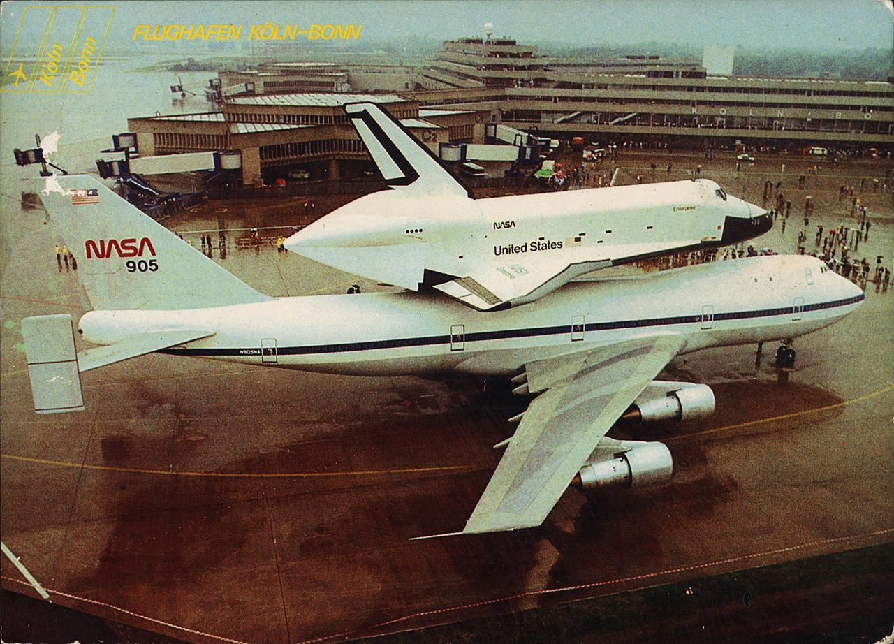 NASA SpaceShuttle am Flughafen Köln/Bonn 1983