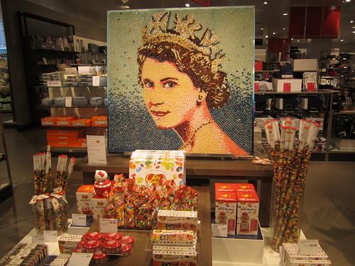 Le portrait de la reine en Jelly Beans!