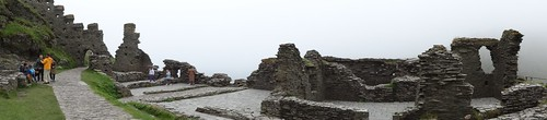 Panorama of the Island Ruins at Tintagel