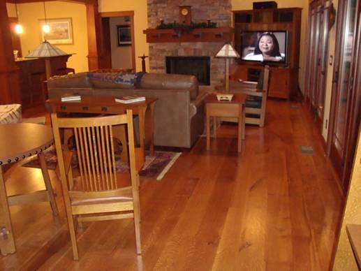 Rustic Oak Living Room Table Set