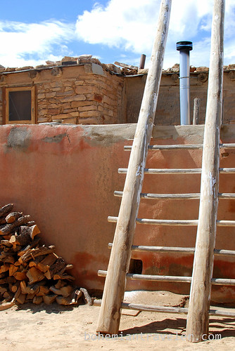 a ladder at Acoma Pueblo Sky City
