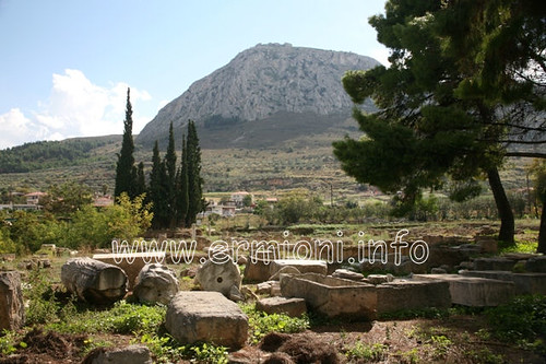 city travel vacation holiday canon greek eos site ancient traditional corinth scenic tourist panoramic photographic architectural greece historical archaeological cultural peloponnese acrocorinth korinthos unspoilt