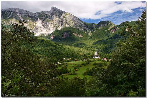 mountain church landscape village slovenia krn kobarid dreznica aviana2 sonyalpha350 fotocompetition fotocompetitionbronze