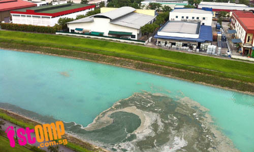 Resident disturbed to find canal in CCK bright blue-green in colour
