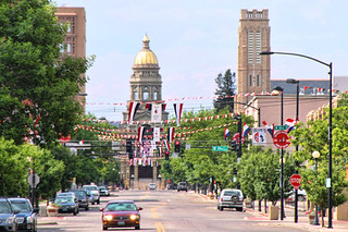 Wyoming capitol building in Cheyenne