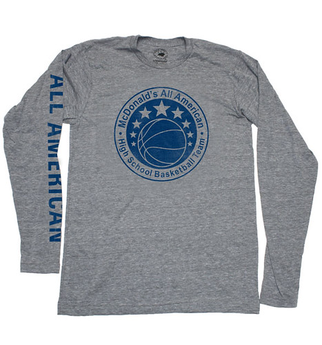McDonald's All American Long Sleeve T-Shirt By Sportiqe Apparel