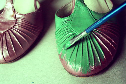 Shoe-painting is fun!