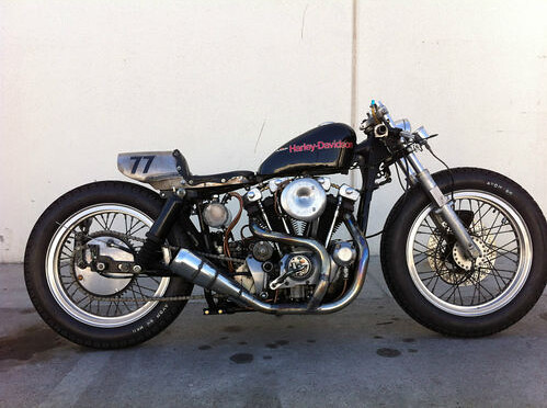 Cafe Racer Harley Ironhead 1000cc Of 1977 With ONLY 6500 Miles