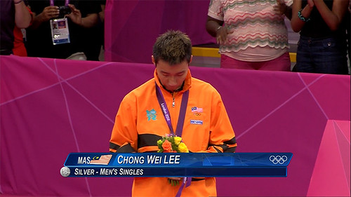 Lee Chong Wei Pingat Perak Olimpik 2012