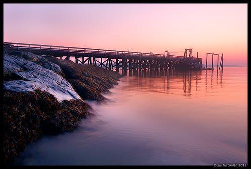ocean seaweed beach sunrise ma pier massachusetts nikond50 salem salemwillows justinsmith nikon1735mmf28 justinsmithphotocom
