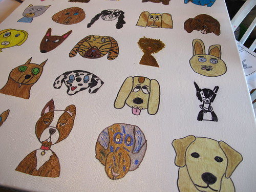 More close-ups of art auction dog project #5