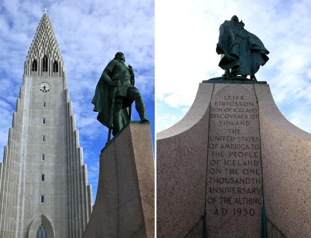 Leif Ericsson statue at Hallgrimskirkja