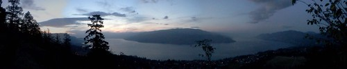 morning panorama lake canada mountains clouds early okanagan columbia british peachland flickrandroidapp:filter=none