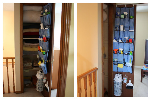 How to Organize Your Linen Closet Using a Shoe Rack or Shoe Holder