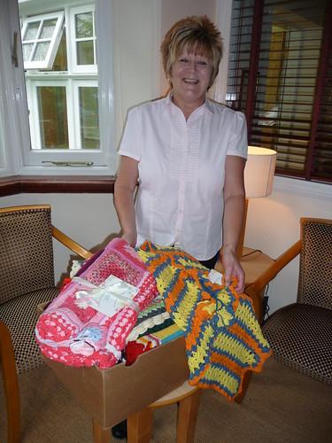 Blanket delivery to St. Bernards Care Home, Olton.