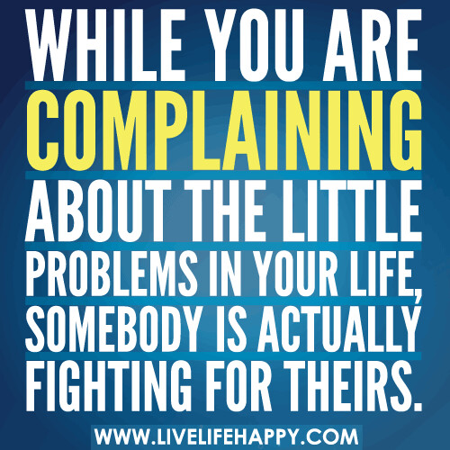 While You're Complaining