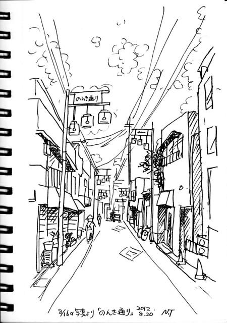 近所の商店街 のんき通り The neighborhood shopping streets