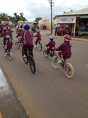 Community ride into Coorow