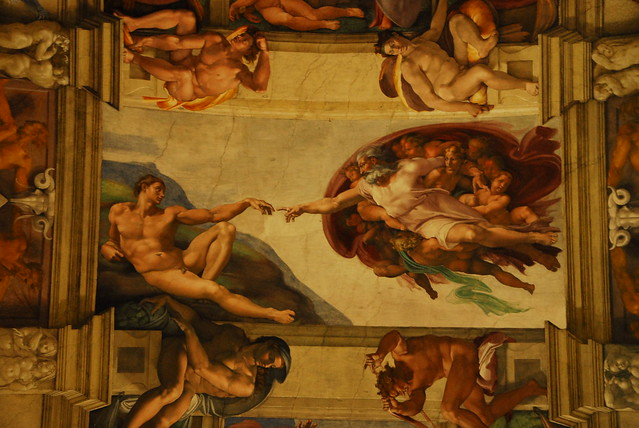 Michelangelo s quot creation of adam quot sistine chapel flickr photo