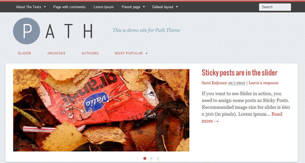 Path Theme - Một theme WordPress miễn phí trên cả tuyệt vời 199
