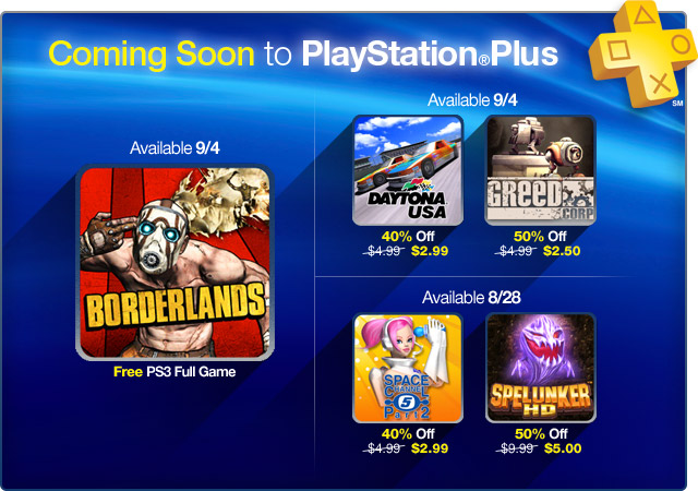 PlayStation Plus Update: August 27th, 2012
