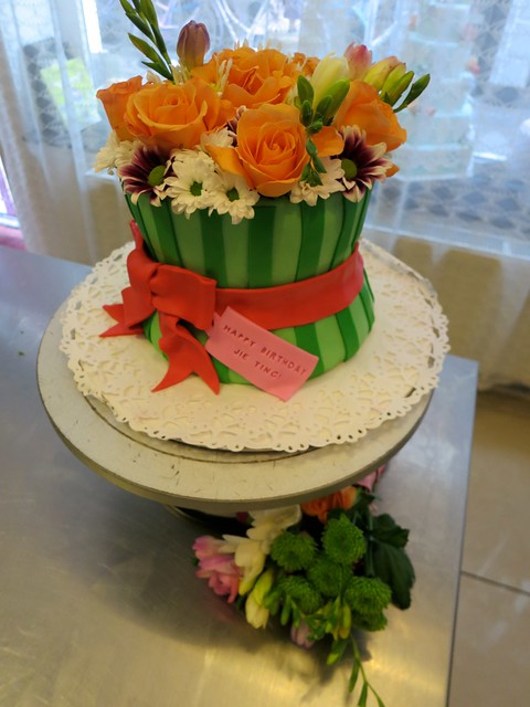 Images Of Birthday Cake With Bouquets : Flower Bouquet Birthday Cake Flickr - Photo Sharing!