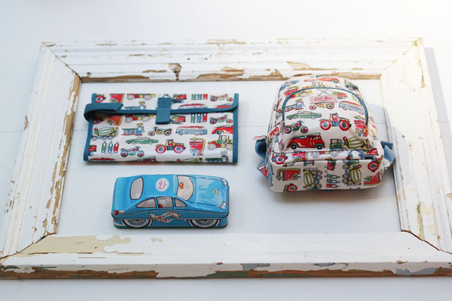 Cath Kidston SS13 Spring Summer car print backpack