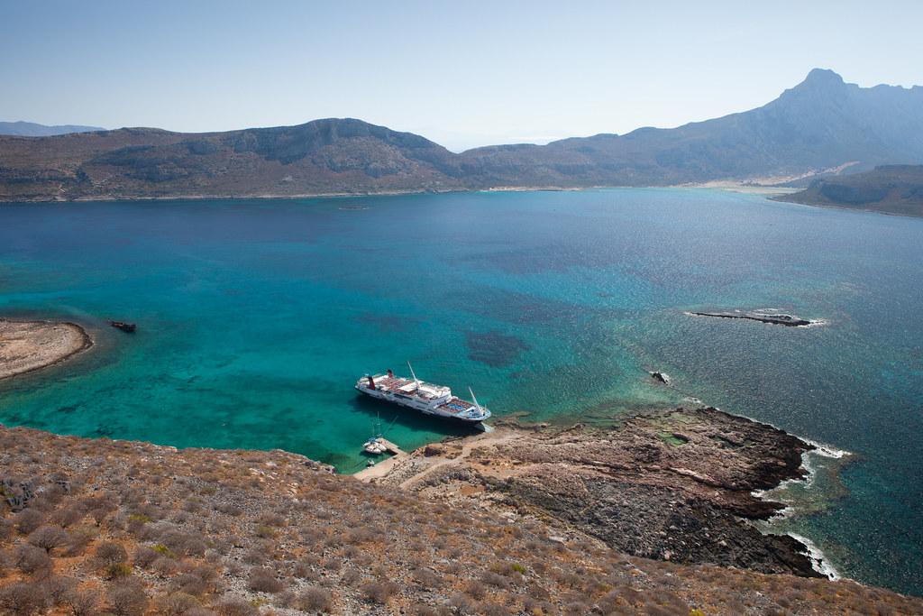 débarquement sur l'ile de Gramvoussa