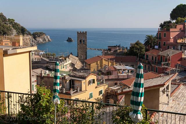 Monterosso harbor and belltower