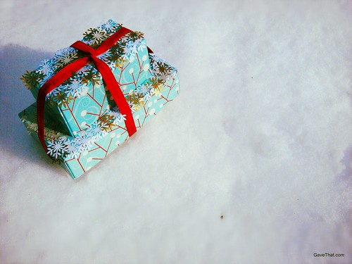 Snowflake covered gifts