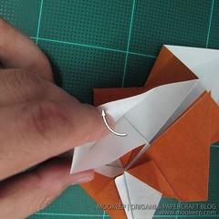 วิธีพับกระดาษเป็นรูปหมี (Origami Bear) 012