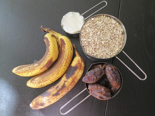 Banana date oatmeal cookies