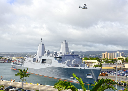 USS Anchorage is moored at Joint Base Pearl Harbor-Hickam.