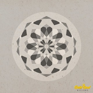 Geometric Mandala // no3 // Grey.